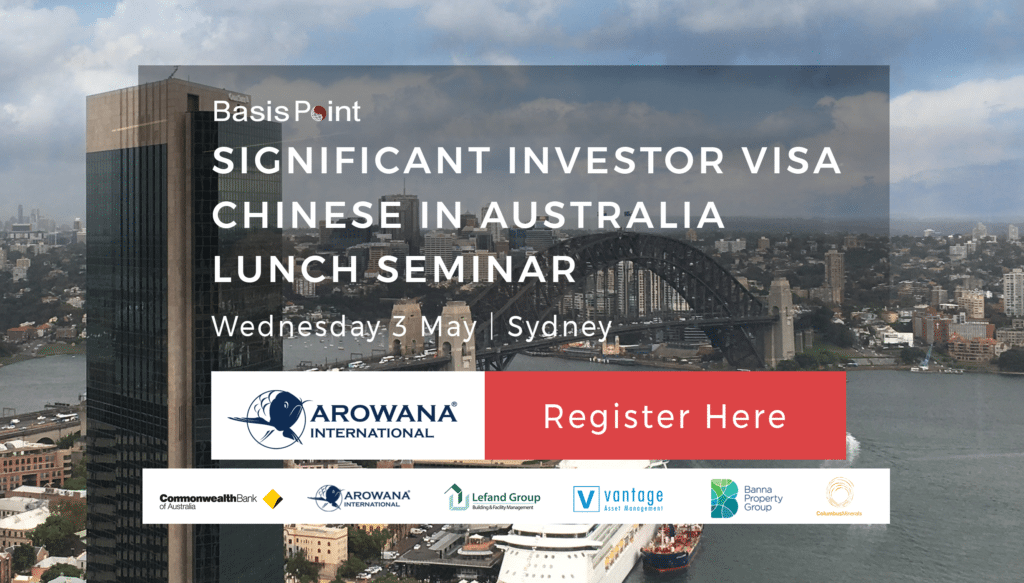 Significant Investor Visa Lunch Seminar Banner