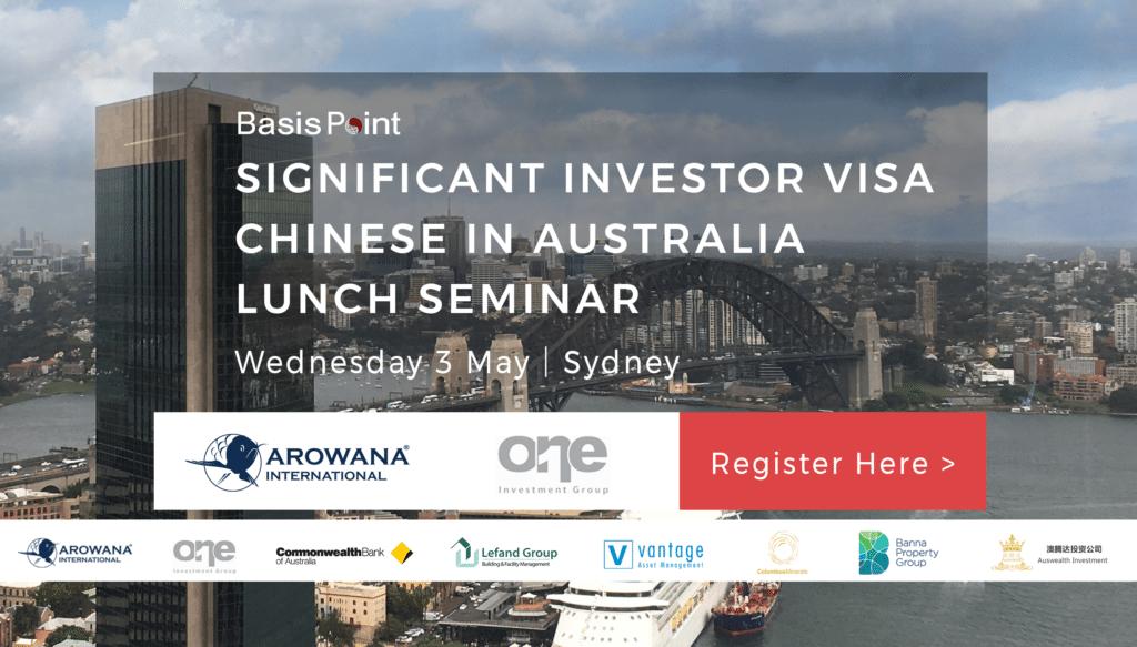 Significant Investor Visa China Lunch Seminar Banner